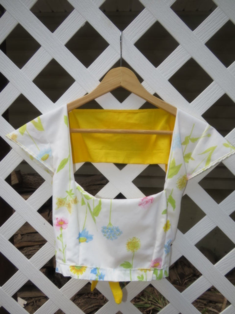 The Sun & Surf Top- Ditsy Sunshine Print