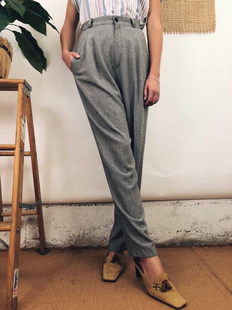 "Vintage Greyscale Trousers (26""-27"")"