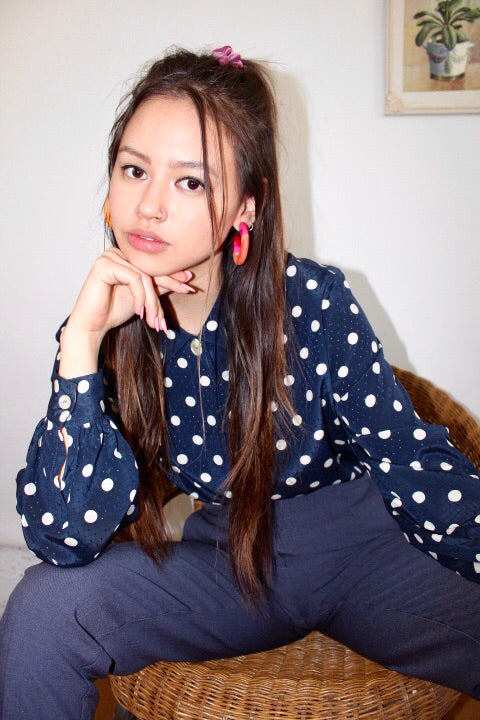 Retro Polka Dotted Blouse