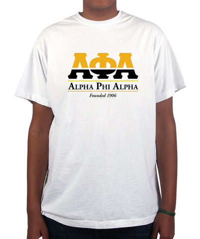 Alpha Phi Alpha Two Tone Greek Letters Premium T Shirt