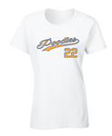 Sigma Gamma Rho Poodles Baseball Script Graphic Print T Shirt by Fashion Greek