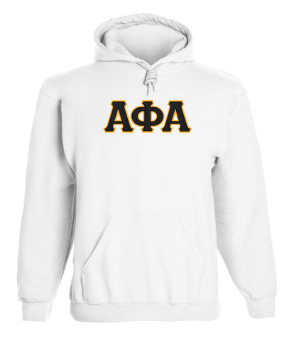 Alpha Phi Alpha Twill Letter Hoody