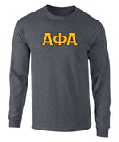 Alpha Phi Alpha  Twill Letter Long Sleeve Tee