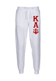 Kappa Alpha Psi Embroidered Twill Letter Joggers