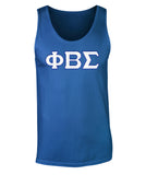 Phi Beta Sigma Twill Letter Tank Top