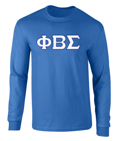 Phi Beta Sigma Twill Letter Long Sleeve Tee