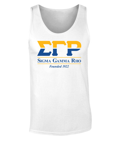 Sigma Gamma Rho Founded 1922 Print Tank Top Premium Collection