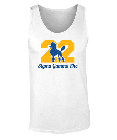 Sigma Gamma Rho Poodle 1922 Print Tank Top Premium Collection