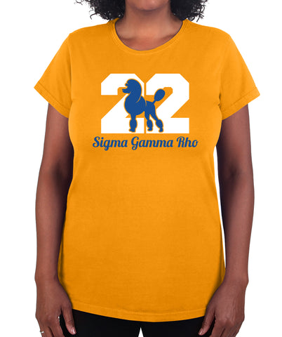 Sigma Gamma Rho Poodle 22 Print T Shirt Premium Collection