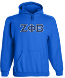 Zeta Phi Beta Embroidered Twill Letter Hoodie
