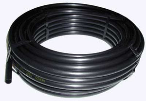 1' 100 PSI Irrigation Poly Pipe HDPE/SIDR rated x 300ft (BLACK)