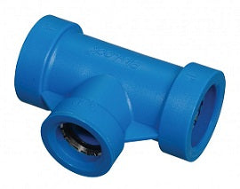 "1"" Blu-Lock Lateral Pipe Fitting-1"" BL x 3/4"" BL Tee"