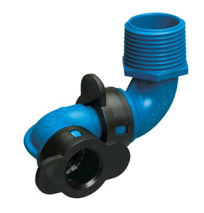 "1/2"" Blu-Lock Swing Pipe Fitting-1/2"" BLR x 3/4"" MIPT Combo Swing Joint"