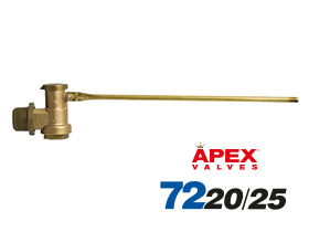 "3/4"" & 1"" Brass Trough Valve with Cord & Nipples"