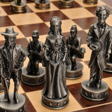 Civil War Chessmen - Pewter - American Chess Equipment