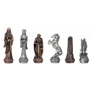Pewter Fantasy Chessmen - American Chess Equipment