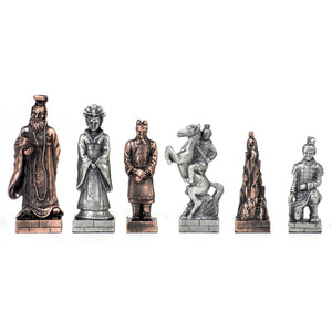 Chinese Qin Chessmen – Pewter - American Chess Equipment