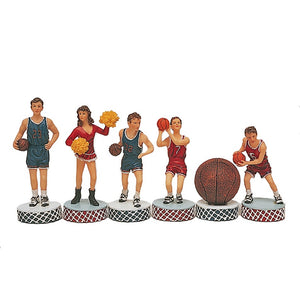 Basketball Chessmen - Hand Painted - American Chess Equipment