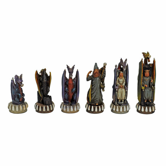 Dragon Chessmen – Handpainted - American Chess Equipment