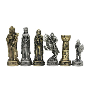 Medieval Chessmen – Pewter with 3.5 in. King - American Chess Equipment