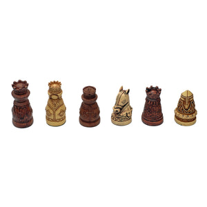 Medieval Chessmen – Brown & Ivory with 2.5 in. King - American Chess Equipment