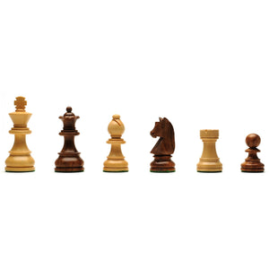 Classic Staunton Chessmen – Weighted & Handpolished Wood with 3 in. King - American Chess Equipment