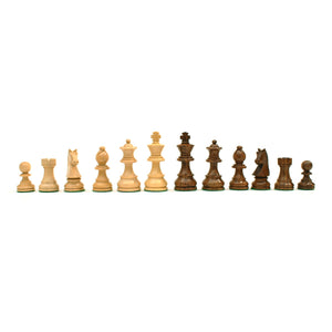 Classic Staunton Chessmen – Weighted & Handpolished Wood with 3.75 in. King - American Chess Equipment