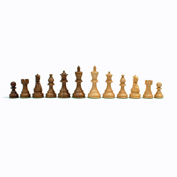 English Staunton Chessmen – Weighted & Handpolished Wood with 3.75 in. King - American Chess Equipment