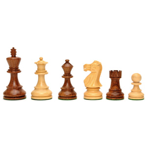 English Staunton Chessmen – Weighted & Handpolished Wood with 4 in. King - American Chess Equipment