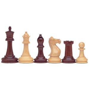 Deluxe Staunton Chessmen – Triple Weighted & Handpolished Rosewood with 4 in. King - American Chess Equipment