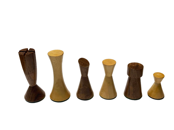 Modern Chess Pieces - Acacia/Boxwood - 3
