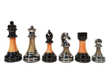 The Bobby Fischer Series Metal & Acrylic Chess Pieces – 3.5 inch King - American Chess Equipment