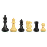 WE Games Ultimate Tournament Staunton Chessmen with 3.75 Inch King & Triple Weight over 3.9 lbs - American Chess Equipment