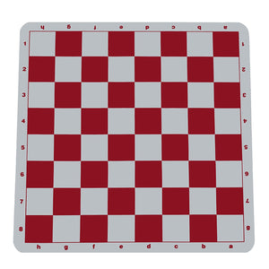 100% Silicone Tournament Chess Mat in Assorted Colors - 20 Inch Board - by WE Games - American Chess Equipment