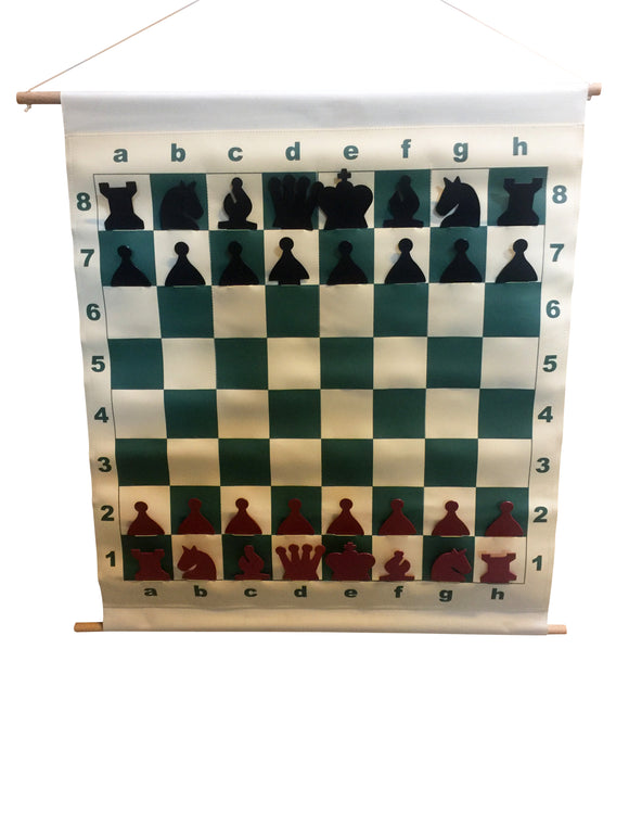 Slotted Chess Teaching Demonstration Board - 28 inches - American Chess Equipment