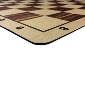 Wood Grain Mousepad Tournament Chessboard in Assorted Colors, 20 inches by WE Games - Made in the USA - American Chess Equipment