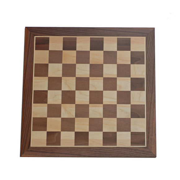 Classic Walnut Chess Board - Comes in 12, 15, and 19 inches - American Chess Equipment