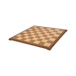 Wooden Chess & Checkers Board with Pedestal Base – 20 inch
