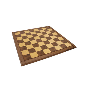 "18"" Walnut Chess Board with edging - 2.25"" squares"