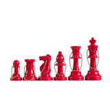 WE Games Keychain Bag Tag Chessmen -Includes 17 pieces with extra queen in assorted colors - American Chess Equipment