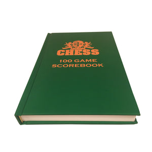 WE Games Hardcover Chess Scholastic Scorebook – Dark Green - American Chess Equipment