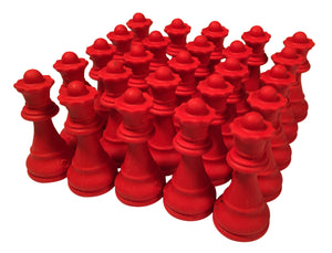Chess Queen Erasers - Bulk Party Pack of 25 - Chess Club prizes and Party Favors - by WE Games - American Chess Equipment