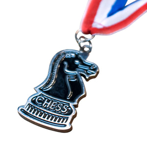 Knight Chess Medal - Available in Gold, Silver, & Bronze - American Chess Equipment