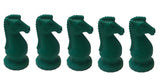 WE Games Chess Knight Erasers in Assorted Colors - 5 Pack - American Chess Equipment