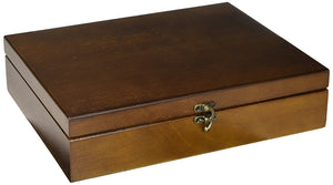 WE Games Old World Wooden Treasure Box with Brass Latch - American Chess Equipment