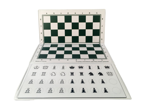 Supersize Checkbook Magnetic Chess Set, 10 inches - American Chess Equipment