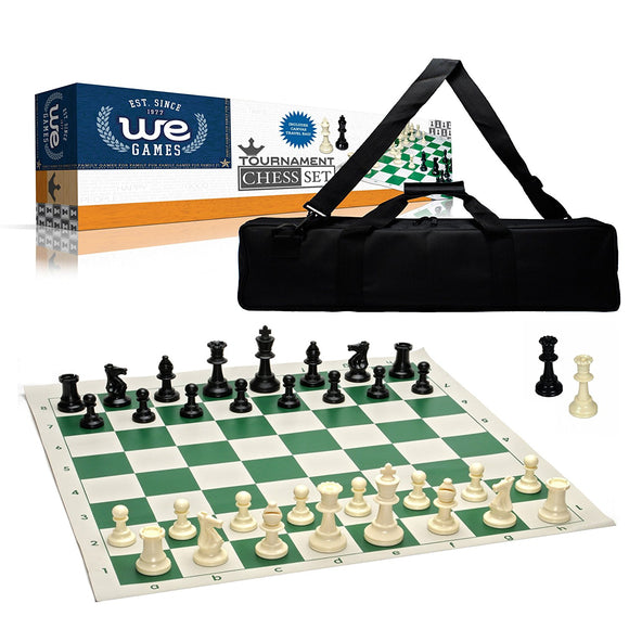WE Games Tournament Chess Set with Canvas Bag - 3 3/4