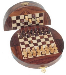 Wood Magnetic Folding Chess Set - American Chess Equipment