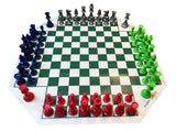 WE Games Four Player Chess Set - American Chess Equipment