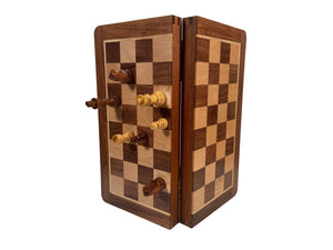 Wood Magnetic Folding Chess Set – 12 Inch